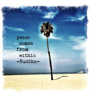 Peace comes from within palm tree