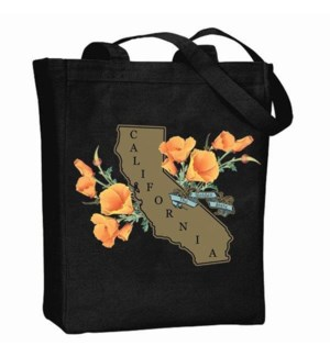 Golden State Poppy-100% Cotton Canvas Tote