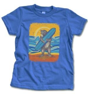 Retro Surf Bear Kids Tee-2T