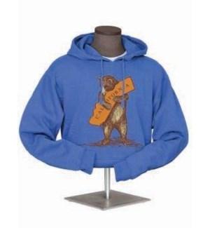 California Bear Hug  Fleece Hoodie - Heathered Blu
