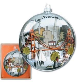 """The City Ornament, 3.75"""" x 1"""" - gift box"""