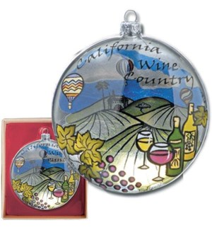 Wine Country Glass Ornament