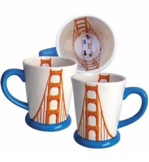 Golden Gate Bridge Mug, 14 oz earthenware