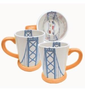 Bay Bridge Mug, 14 oz earthenware