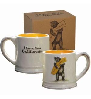 CA Bear Hug Mug, 16 oz earthenware