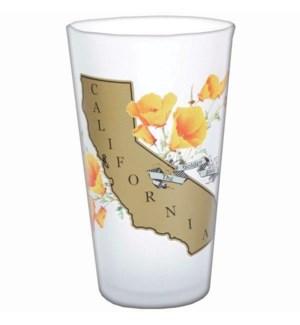 Golden State Poppy Pint Glass