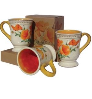 California Poppy Mug - Gift Boxed