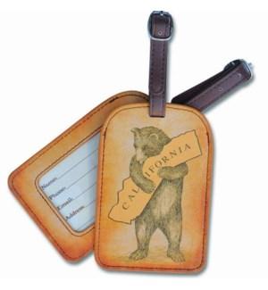 CA Bear Hug Faux Leather Luggage Tag