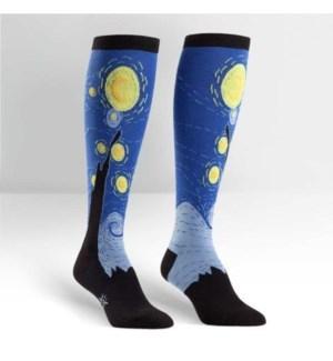 Women's Knee Funky: Starry Night