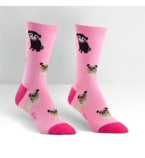 Women's Crew: Pink Pug