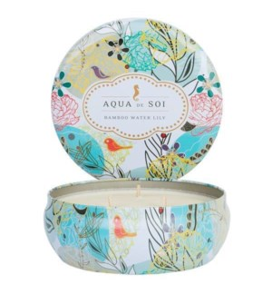 Aqua De SOi Bamboo Water Lily 3 Wick Tin