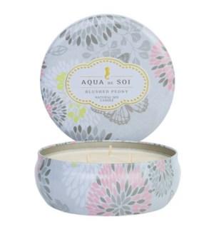 Aqua De SOi Blushed Peony 3 Wick Tin