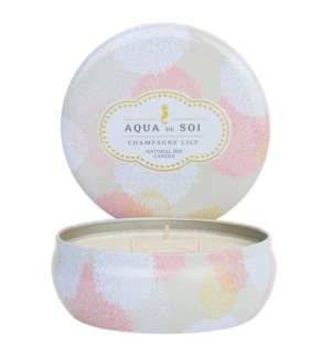 Aqua De SOi Champagne Lily 3 Wick Tin
