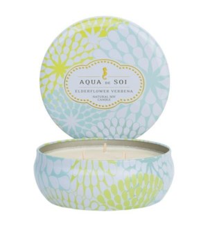Aqua De SOi Elderflower Verbena 3 Wick Tin