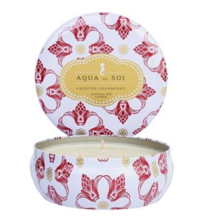Aqua De SOi Frosted Cranberry 3 Wick Tin