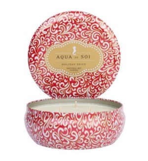 Aqua De SOi Holiday Spice 3 Wick Tin