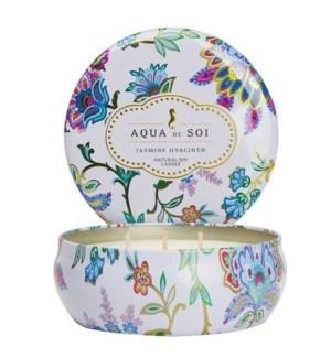 Aqua De SOi Jasmine Hyacinth 3 Wick Tin