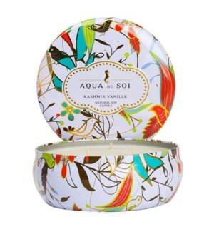 Aqua De SOi Kashmir Vanille 3 Wick Tin