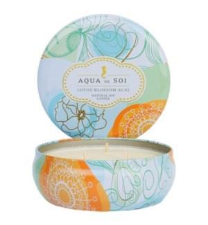 Aqua De SOi Lotus Blossom Acai 3 Wick Tin