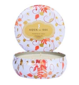 Aqua De SOi Pumpkin Chai 3 Wick Tin