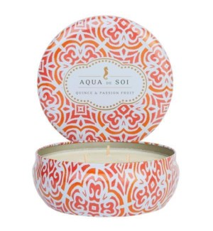 Aqua De SOi Quince & Passion fruit 3 Wick Tin