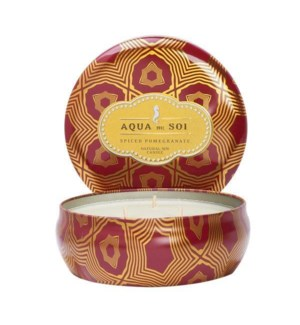 Aqua De SOi Spiced Pomegranate 3 Wick Tin