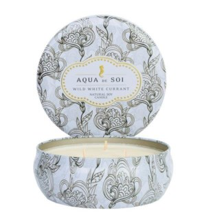 Aqua De SOi Wild White Currant 3 Wick Tin
