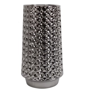 CLAYTON VASE- SMALL | Silver Finish on Ceramic