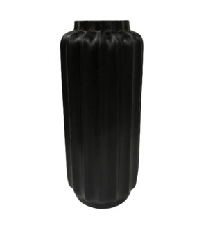 BARI FLOOR VASE- LARGE | Matte Black Finish on Resin
