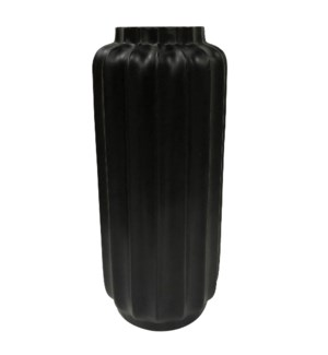 BARI FLOOR VASE- SMALL | Matte Black Finish on Resin
