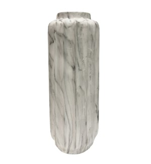 TREVI FLOOR VASE- SMALL | White Marble Finish on Resin