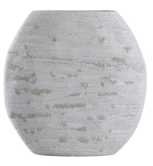 DELPHI VASE- SHORT | Cream Finish on Ceramic