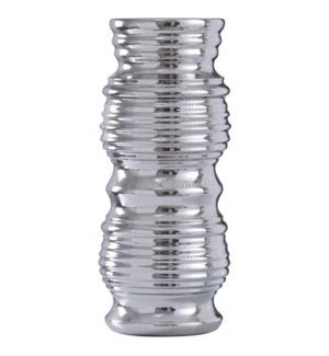 ICARUS VASE- LARGE | Chrome Finish on Ceramic