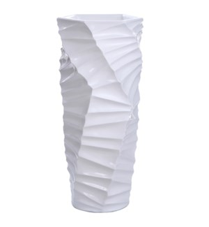 HANGA FLOOR VASE- LARGE | Gloss White Finish on Resin
