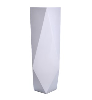 ROA FLOOR VASE- LARGE | Gloss White Finish on Resin