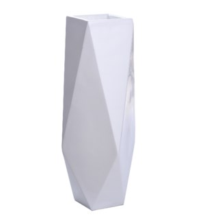 ROA FLOOR VASE- MEDIUM | Gloss White Finish on Resin