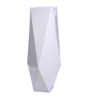 ROA FLOOR VASE- SMALL | Gloss White Finish on Resin