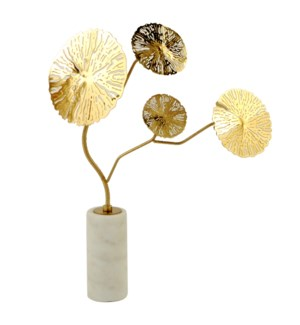 KOTE TREE STATUE- MEDIUM | Gold Finish on Metal with Marble Base