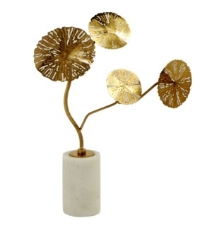 KOTE TREE STATUE- SMALL | Gold Finish on Metal with Marble Base