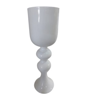 VERONA FLOOR VASE | Gloss White Finish on Resin