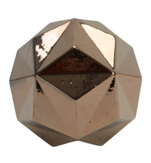 RHODES GEO SCULPTURE- BRONZE | Bronze Finish on Ceramic