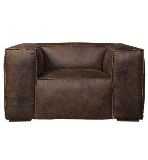 PRESLEY CHAIR | Vintage Leather- Camel with Hardwood Feet