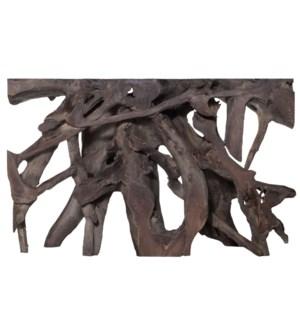 JAKARTA SMALL CONSOLE TABLE- GRAY | Gray Finish on Teak Wood