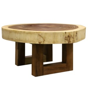 BALI COFFEE TABLE | Natural Finish on East Indian Walnut Wood