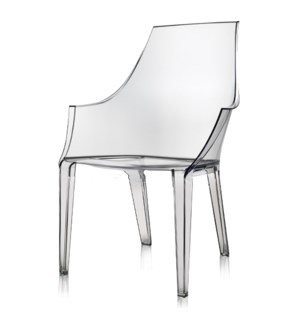 LOGAN ARM CHAIR | Clear Polycarbonate Frame | Stackable