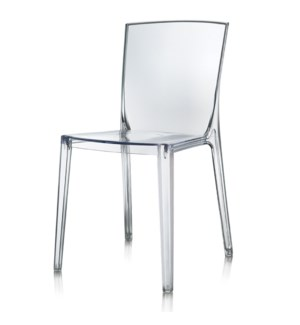 LOGAN SIDE CHAIR | Clear Polycarbonate Frame | Stackable