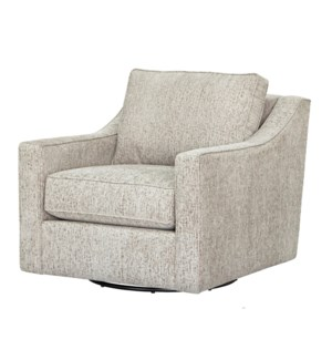TILLMAN SWIVEL CHAIR | Como Linen Fabric on Hardwood Frame with Swivel Base