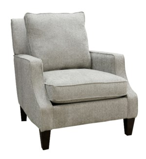 GREER ACCENT CHAIR | Chenille Boucle Seal Fabric on Hardwood Frame