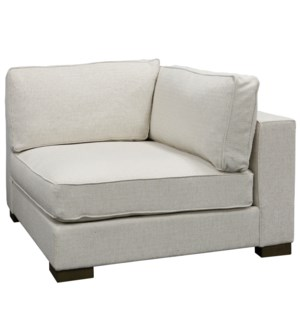 BARRON SECTIONAL- CORNER | Bermuda Natural Fabric on Hardwood Frame