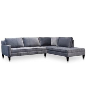 POPE SECTIONAL | Shetland Metal Fabric on Hardwood Frame